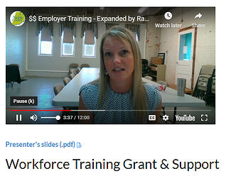 Employer Training Grant Video